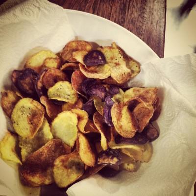 Küchenstolz: Selbstgemachte Kartoffelchips