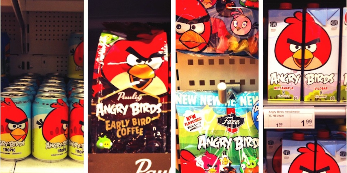 Im finnischen Supermarkt: Angry Birds