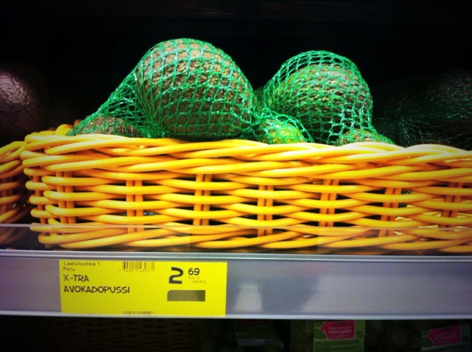 Im finnischen Supermarkt: Avokadopussi