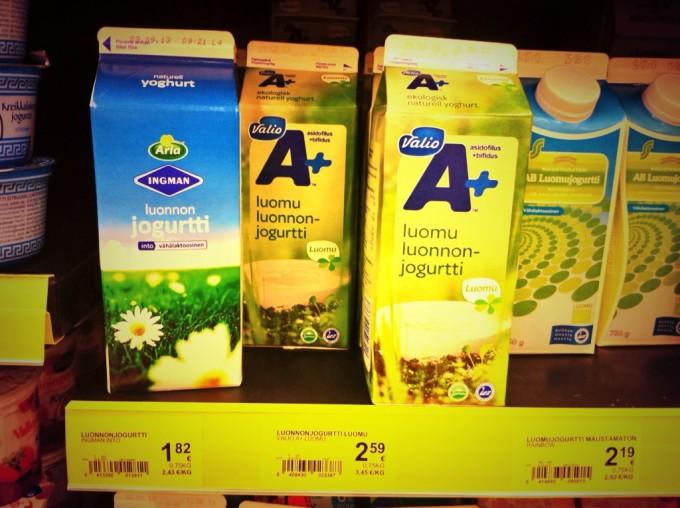 Im finnischen Supermarkt: Jogurtti
