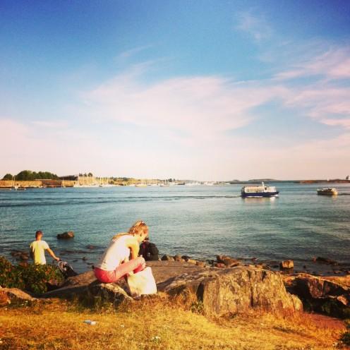 Was für ein Luxus: Das Meer ist in Helsinki irgendwie überall.