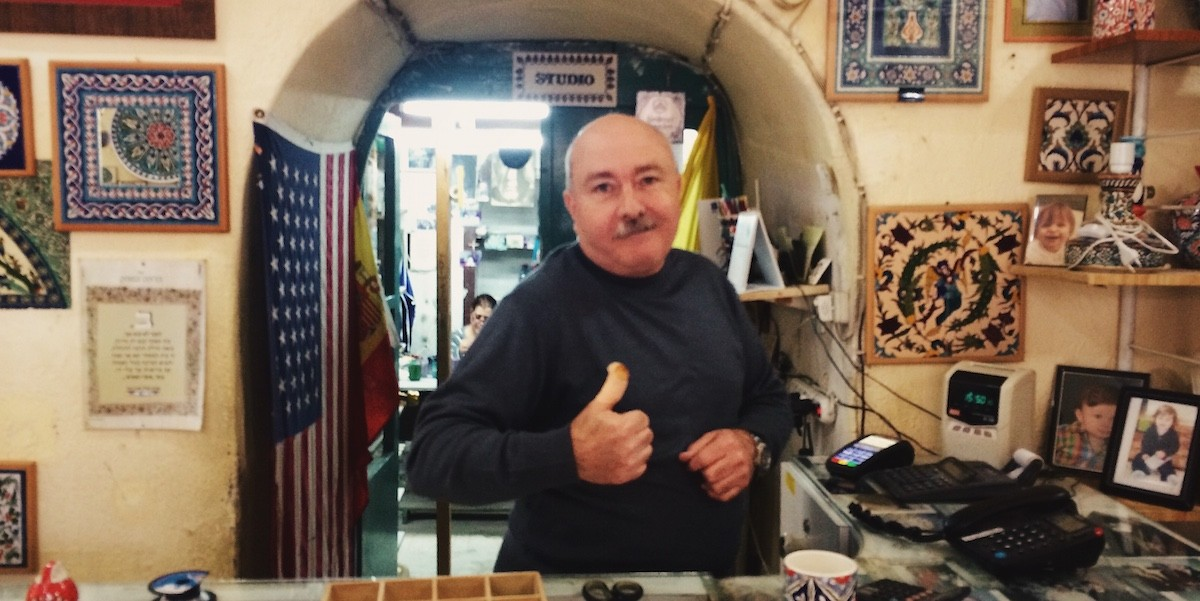 Haroud, der Keramikverkäufer