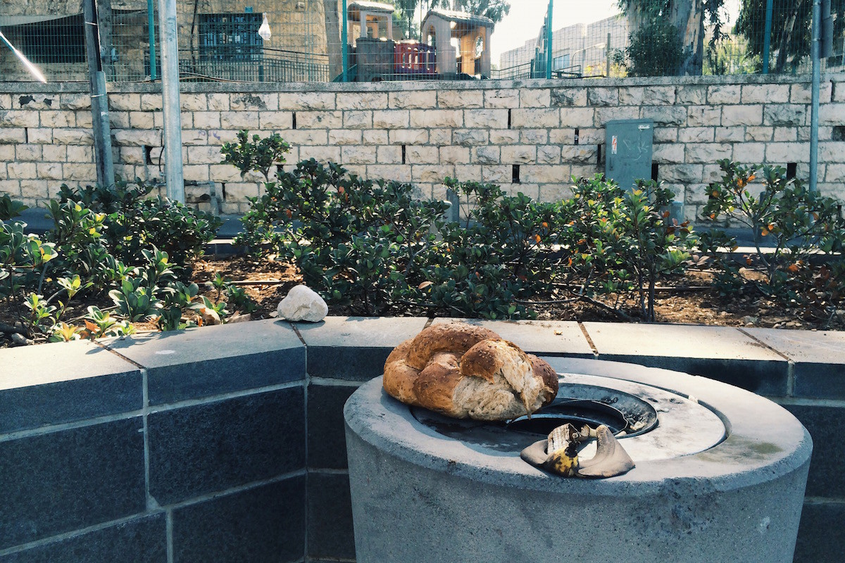 Brot am Straßenrand in Jerusalem