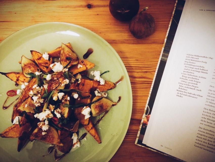 Küchenstolz: Gebackene Süßkartoffeln mit Feigen