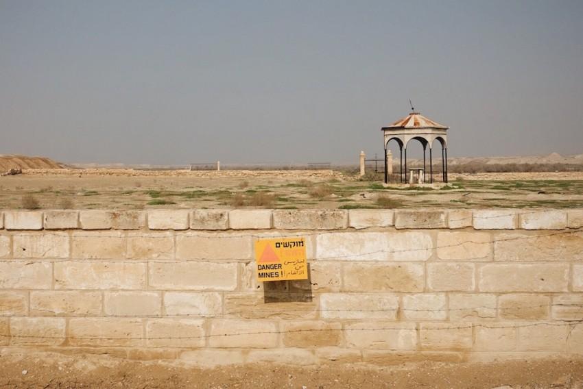 """""""Danger Mines!"""" in der militärischen Sperrzone in der West Bank"""