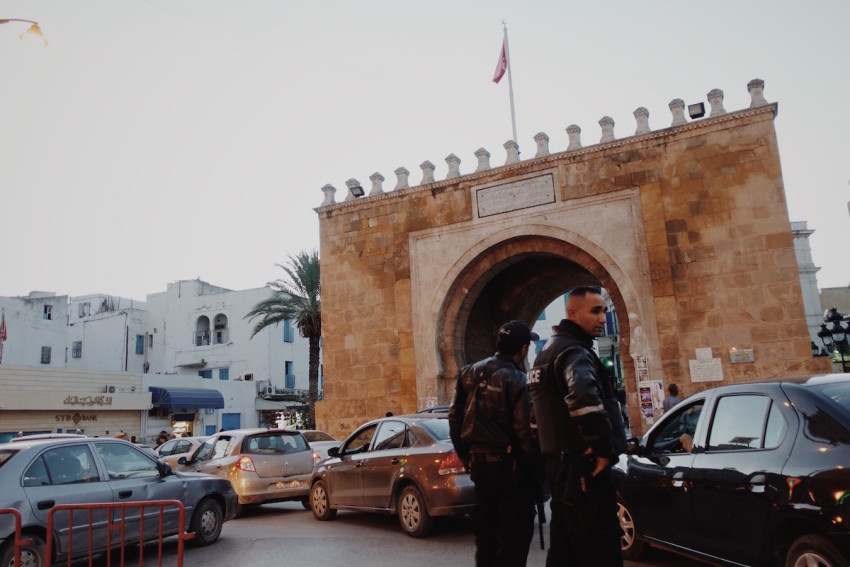 Große Polizeipräsenz in der Innenstadt von Tunis