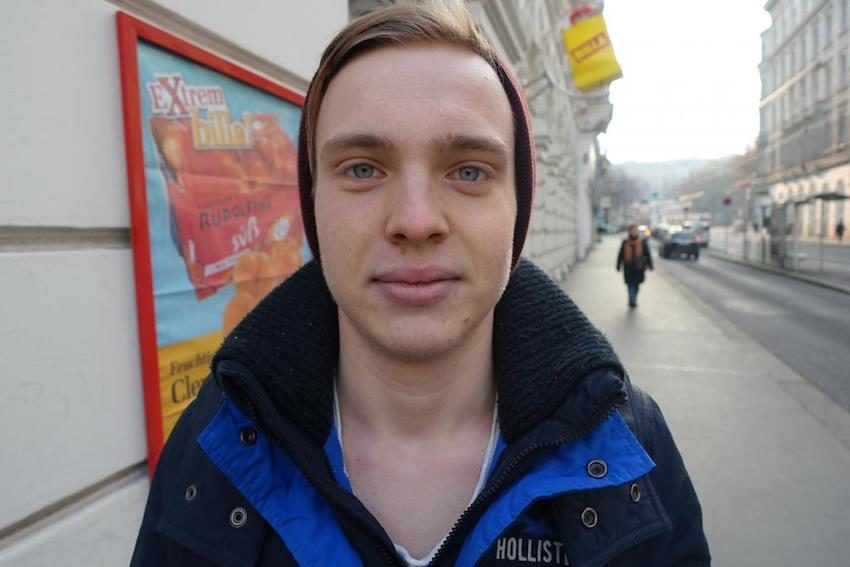 """Patrik, 17: """"Die ganzen Sachen, die ich mir von van der Bellen angehört habe, haben mir schon gefallen."""""""